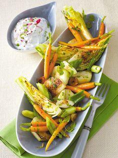 Ofen-Gemüse mit Radieschen-Quark