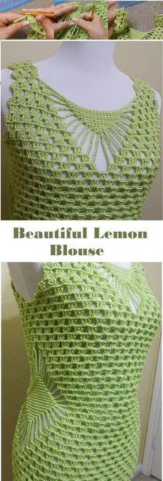 Lemon Blouse Crochet