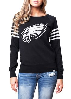 Philadelphia Eagles Womens Varsity Sweater | SportyThreads.com