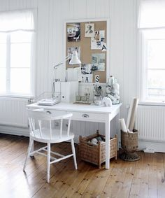 painted captains chair // I Heart Shabby Chic: Totally Gorgeous Vintage & Shabby Chic Home Office Studios 2012