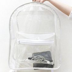 clear grid backpack  pastel goth nu goth cyber grunge cyber punk grid fachin backpack bag accessories etsy