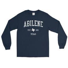 Vintage Abilene Texas TX Adult Long Sleeve T-Shirt (Unisex)