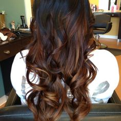 Dark brown ombre hair in honor of my soon to be new hair :)