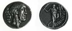 455.1.3 Denarius of C. Antius Restio, 47 BC, with the head of the moneyer's father on the obverse, R.8904