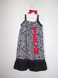 Texas tech toddler dress...also thinking of getting/ making for Gracie girl! :)