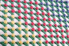 Crochet Pattern Tulip Field Baby Blanket PDF by SweetCrocheterie, $7.00