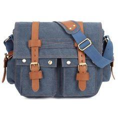 Men Canvas Microfibric Leather Casual Outdoor Messenger Shoulder Crossbody  Bag Laptop Messenger Bags c7020586e5baf