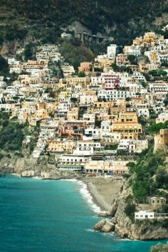 Positano. Stayed here for a week in the beginning of summer 2013. it was wonderful, such a warm and intimate feeling in the town.