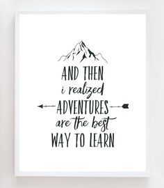 Adventure Quote Wall Art Print by OwlYouNeedIsLoveShop on Etsy