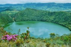 Hidden in a spectacular landscape high in the Andean mountains is the Guatavita lagoon.
