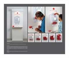 "Red Cross Society: ""Red Cross Society: : Blood Bag"" Ambient Advert by DDB Mudra Group Mumbai"