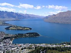 Queenstown, New Zealand from the Skyline Gondola. #queenstown #newzealand #southisland #skylinegondola #scenic #travel