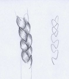 Draw a Braid ✤ || CHARACTER DESIGN REFERENCES | Find more at https://www.facebook.com/CharacterDesignReferences if you're looking for: #line #art #character #design #model #sheet #illustration #expressions #best #concept #animation #drawing #archive #library #reference #anatomy #traditional #draw #development #artist #pose #settei #gestures #how #to #tutorial #conceptart #modelsheet #cartoon