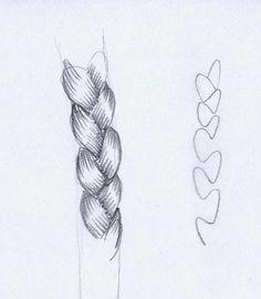 Como dibujar trenzas