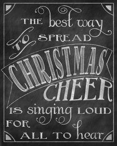 DIY : Christmas Chalkboard Printable - Free Download