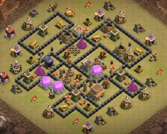 OMG These anti dragon base designs are really cool because of which dragons stopped flying after seeing this town hall 8 base layouts and killed themselves. Clash Of Clans Levels, Clash Of Clans Game, Dragon Base, Dragon Coc, Town Hall, Layout Design, War, Unique, Check