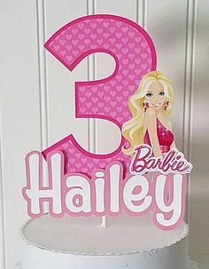 Check out this item in my Etsy shop https://www.etsy.com/listing/457196116/barbie-cake-topper-birthday-barbie-cake