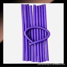 Бесплатная доставка 20 шт./лот 1 см для завивки волос Flexi ролика магия воздуха волосы бигуди бенди палочки случайный цвет купить на AliExpress