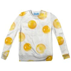 """""""Well look at that, another new eggs-ellent sweater to celebrate the best meal of the day: Breakfast! New Egg, Recipe Of The Day, Good Food, Youth, Eggs, Sweatshirts, Celebrities, Sweaters, Meal"""