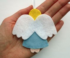 DIY Felt Angel Ornaments - PDF Sewing Pattern, Christmas decorations. £3.50, via Etsy.