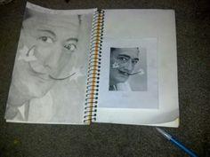 My sketch of Salvador dali!