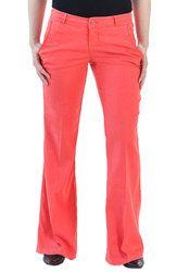 Salmon Petite Linen Trouser, $100 (sizes 00P-12P) #petitepants Petite Flare Jeans, Petite Skinny Jeans, Petite Shorts, Curvy Jeans, Linen Trousers, White Jeans, Pajama Pants, Legs, Salmon