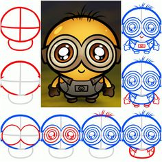 How To Draw a Chibi Minion step by step DIY tutorial instructions, How to, how to make, step by step, picture tutorials, diy instructions, craft, do it yourself