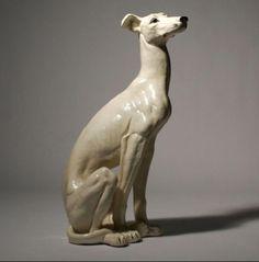 Porcelain greyhound