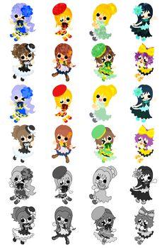 フリーのアイコン素材可愛い小さな女の子 / Icons of the cute little girls  ダウンロードはこちらから  The downloading from this.