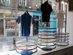 Fred Perry Bicycle display by Studio XAG blog
