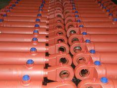 siłowniki hydrauliczne dwustronnego działania do chwytaków hydraulicznych