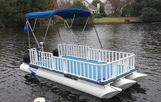 No wake boats made from polypropylene.  NoWakie Pontoon Boats.  Hand built plastic pontoon boats