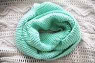 Mint Green Infinity Scarf.