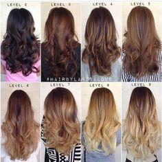 Tons de cabelos