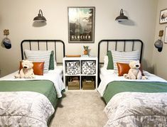 Toddler Twin Bed, Twin Beds For Boys, Boy Toddler Bedroom, Girl Room, Little Boy Beds, Baby And Toddler Shared Room, Shared Boys Rooms, Kid Rooms, Kids Bedroom Designs