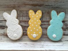 Bunny Cookies 1 dozen by MJCookiesConfections on Etsy