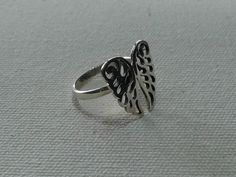 Items similar to Gorgeous WING Silver Rings with Handmade 925 Sterling Silver # Simple Design ring with beautiful Angle rings. on Etsy Simple Rings, Handmade Sterling Silver, Wings, Silver Rings, Unique Jewelry, Handmade Gifts, Business, Pretty, Kid Craft Gifts