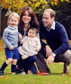 Prince George and Princess Charlotte, children of Prince William and Princess Kate, Duke and Duchess of Cambridge.
