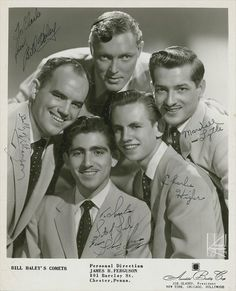 """Bill Haley and the Comets (1950s). Their main hit was """"Rock Around the Clock."""""""