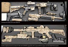 A look at two Navy Seal SOPMOD kits.