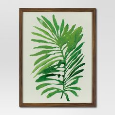 "Framed Watercolor Palm Leaf (16""x20"") - Green - Project 62™ : Target (190 NOK) ❤ liked on Polyvore featuring home, home decor, wall art, palm leaf wall art, green home decor, framed wall art, target home decor and target wall art"