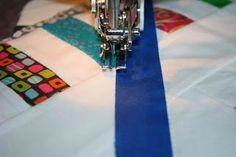 crazy mom quilts: grid quilting mini tutorial
