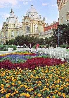 Part of the Vajdahunyad Castle in Budapest (this is the baroque-renaissance part, as the castle is actually a purposeful mix of architectural styles)