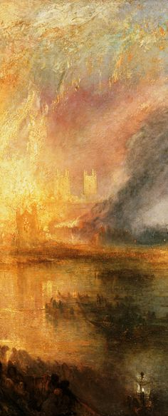 The Burning of the Houses of Lords and Commons October 16, 1834 Detail, 1834 JMW Turner