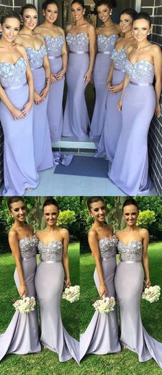Mermaid Bridesmaid Dresses,Lilac Lace Bridesmaid Dresses,Sweetheart Cheap Bridesmaid Dress,Custom Made Long Bridesmaid Gown Prom Dresses,Bridesmaid Dresses 2017,Bridesmaid Dress