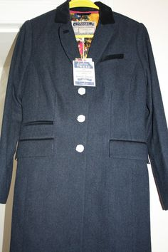BNWT new Joules best selling Duchess tweed lined coat in navy UK 12
