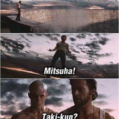 This scene seems familiar. Follow @9gag @9gagmobile #9gag #your name #kiminonawa #makotoshinkai #wolverine #deadpool #君の名は #新海誠 #funny #followback #tagforlikes