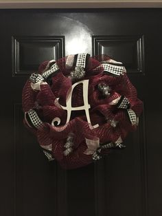 Bama Wreath-- Roll Tide!!