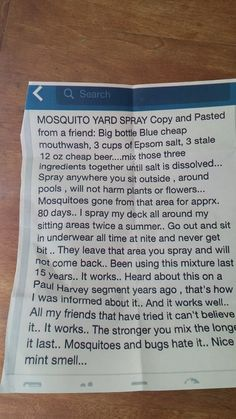 Natural And Economical Way To Rid Your Yard Of Pesky Mosquitos! Safe For Kids, Pets, And Plants! Natural And Economical Way To Rid Your Yard Of Pesky Mosquitos! Safe For Kids, Pets, And Plants!It's that Easy! Do It Yourself Camper, Do It Yourself Home, Mosquito Yard Spray, Homemade Mosquito Spray, Pest Spray, Mosquito Cream, 1000 Lifehacks, E Mc2, My Pool