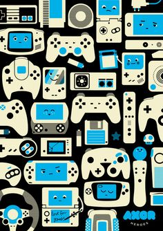AXOR Heroes - Love For Games Duotone  by AXOR By Axel Pfaender. I want this framed and hung in my future game room.